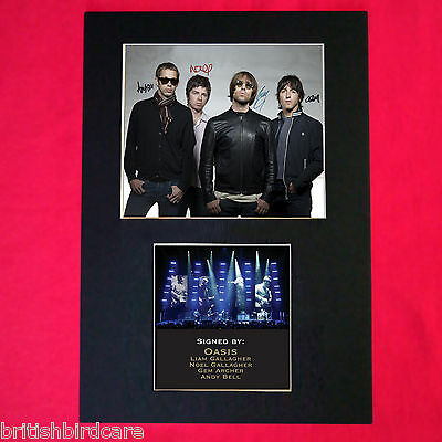 OASIS Autograph Mounted Signed Photo RE-PRINT A4 191