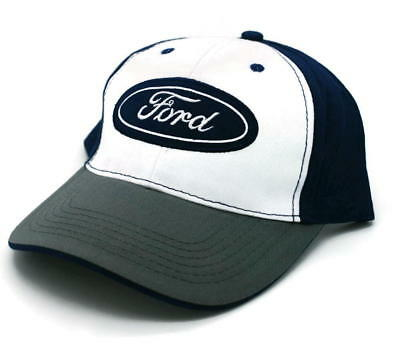 Hat - Ford Embroidered Logo Adjustable Ball Cap Blue Green & White FREE SHIPPING