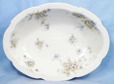 Theodore Haviland Vegetable Bowl Schleiger 162 125 Blue Flowers 2 Chips As Is