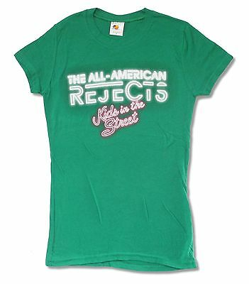 All American Rejects Kids Tour 2012 Green Juniors Girls T Shirt Move Along Music
