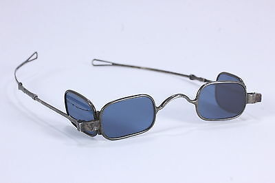 McAllister Blue 4-Lens Eyeglasses Steampunk Industrial Sliding Temple Spectacles