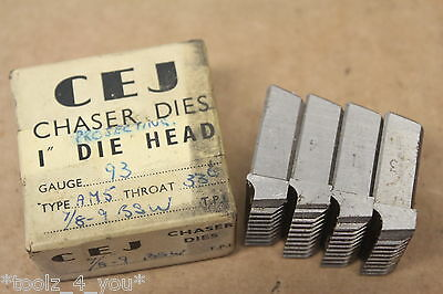 "CEJ 7/8"" x 9 Tpi BSW Projecting Coventry Die Chasers For 1"" Head CD172"