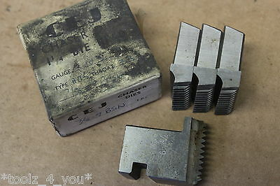 "CEJ 7/8"" x 9 Tpi BSW Projecting Coventry Die Chasers For 1 1/4"" Head CD177"