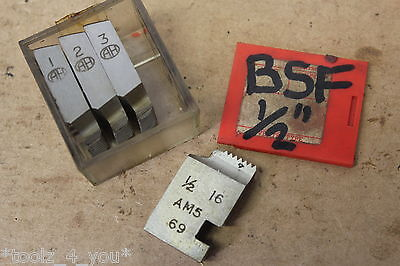 "Alfred Herbert 1/2"" x 16 Tpi BSF Coventry Die Chasers For 3/4"" Head CD192"