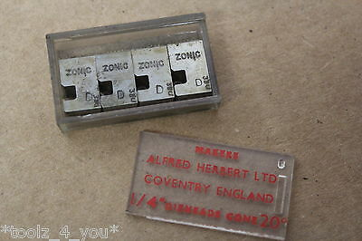 "New Alfred Herbert 2BA x 0.81mm Coventry Die Chasers For 1/4"" Head CD215"