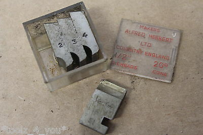 "New Alfred Herbert 1/4"" x 64 Tpi WHIT FORM Coventry Die Chasers 1/2"" Head CD224"