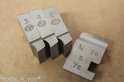 "Alfred Herbert 3/4"" x 26 Tpi BRASS BSB Coventry Die Chasers For 3/4"" Head CD230"