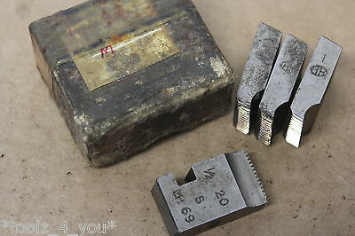 "Alfred Herbert 1/2"" x 20 Tpi Whitworth Form Coventry Die Chasers 3/4"" Head CD240"