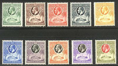 GOLD COAST #98-107 Mint - 1928 K G V Set