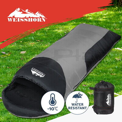 WEISSHORN Camping Envelope Double Sleeping Bag -10°C Thermal Hiking Navy 145CM