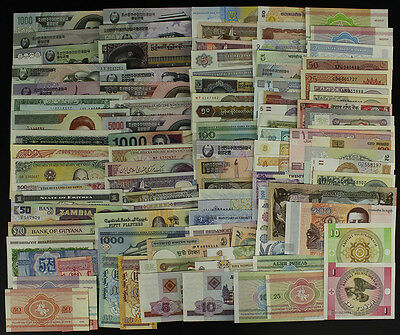 Lot 100Pcs Different Banknotes Currency World Paper Money From 30 Countries UNC