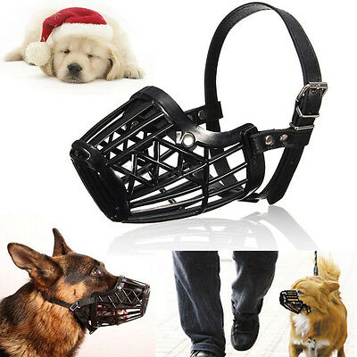 Adjustable Pet Dog No Bite Basket Muzzle Cage Mouth Anti Chew Mesh Cover 7 Sizes