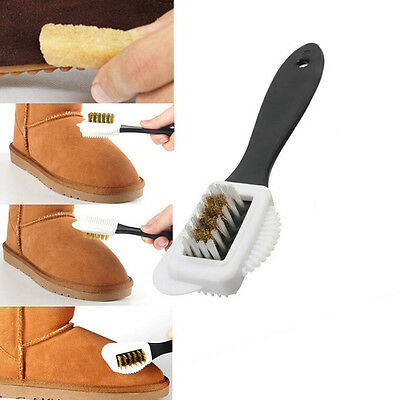 Hot Chic 3-Sides Cleaning Brush For Suede Nubuck Shoes Boot Cleaner TBUS