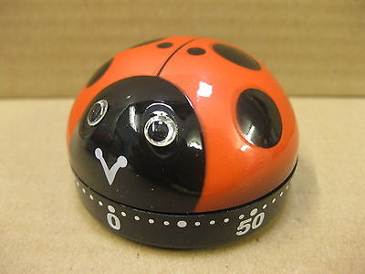 Ladybird Timer Modern Kitchen Gifts Egg Small Mechanical Wind Up 60 Mintutes New