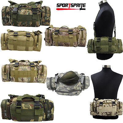 Outdoor Camping Hiking Camera Pouch Shoulder Bag Tactical Military 3P Waist Pack