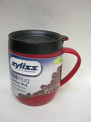 New DKB Zyliss Smart Cafe Hot Mug Cup Coffee Cafetiere Red