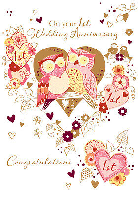 On your 1st wedding anniversary greeting card by talking pictures on your 1st wedding anniversary greeting card by talking pictures handmade cards m4hsunfo