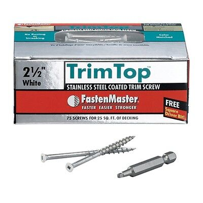 "FMTT212-75WH 75PK 2-1/2"" Trim Screws"