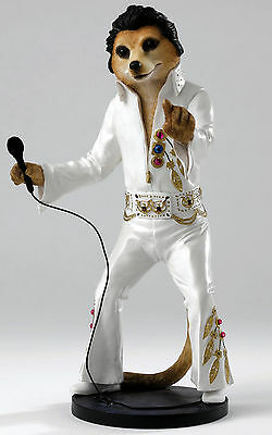 Country Artists CA04240 Magnificent Meerkats Elvis Meerkat Figurine NEW