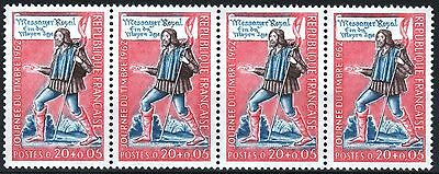 """FRANCE STAMP 1332 """" JOURNEE TIMBRE MESSAGER VARIETE COULEUR"""" NEUFS xx SUP M375"""