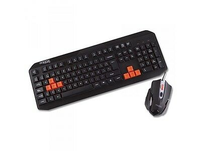 Approx Quasar USB Multimedia Keyboard & Mouse Gaming Desktop Kit Backlit Red LED