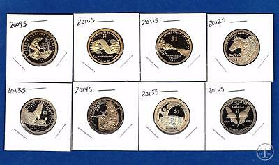 2009 S through 2016 S Proof Sacagawea Native American Dollars-8 Gem Proof Coins