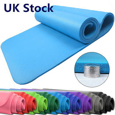 Yoga Mat Exercise Fitness Physio Pilates Camping Workout Gym Non Slip HT