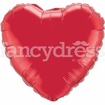 "18"" Foil Balloon Red Heart Valentine Wedding Engagement Air/Helium Fill NEW"