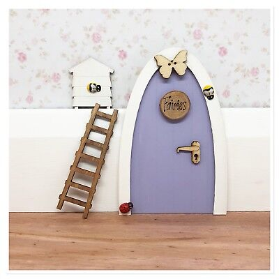 Cute Wooden Handpainted Fairy Door - Great Gift Idea - Personalised Fairy Notes