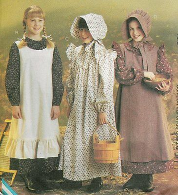 Sewing PATTERN Prairie Little House dress McCalls 9424 / 7231 Pioneer girl 14-16