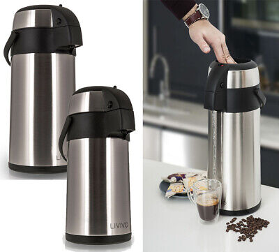 3L/5L Livivo Stain/Steel Airpot Hot Tea Coffee Drinks Vacuum Flask Thermos Jug