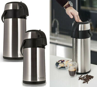 Stainless Steel Airpot Hot Cold Tea Coffee Drinks Vacuum Flask Thermos Jug 3L 5L