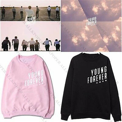 Kpop BTS Sweatershirt Young Forever Bangtan Boys Hoodie Unisex Sweater Pullover