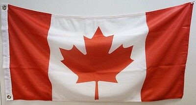 """LOT of 24 NATIONAL CANADIAN FLAG 1 1/2 X 3 Ft (18""""x 36"""") - BRAND NEW  / RX10/30"""