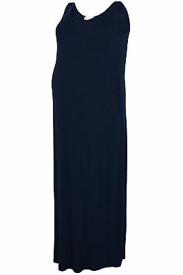 Plus Size Womens Bump It Up Maternity Maxi Dress With Ruched Waist Side Detail