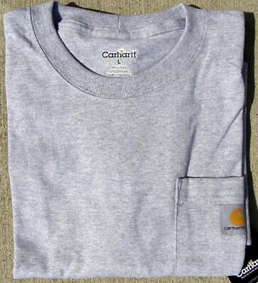 CARHARTT K87 Men's Pocket T-Shirt - Heather Grey (XL Tall)