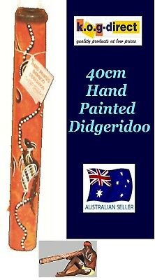 Didgeridoo Bamboo 40Cm Aboriginal Beautifully Hand Painted New Org