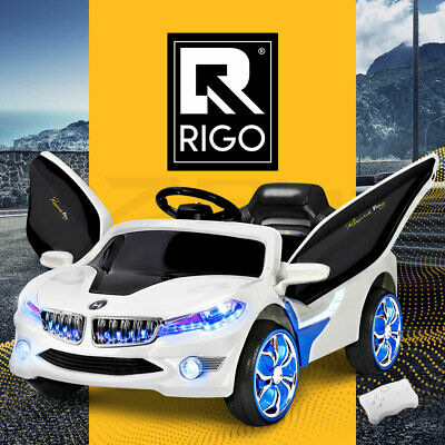 RIGO Kids Ride On Car Battery Electric Toy 2 Speed 12V Remote White Children