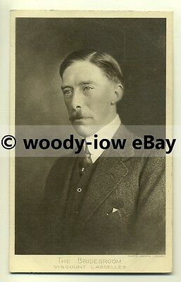 r0086 - Viscount Lascelle husband of Princess Mary - postcard