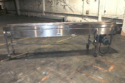Nercon 12 in. Wide x 10 ft. Long Stainless Steel Flex Link Conveyor 1Hp 208-460V