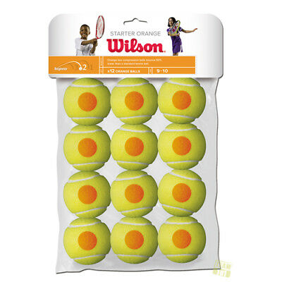 Wilson Tennisbälle STARTER Orange 12er Pack Stufe 2