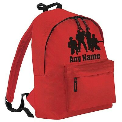 Personalised SOLIDERS/ARMY Backpack/School/PE Bag. Choice Of Colours.