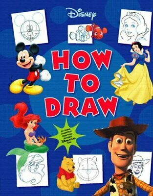 Disney How to Draw Hardback Book The Cheap Fast Free Post