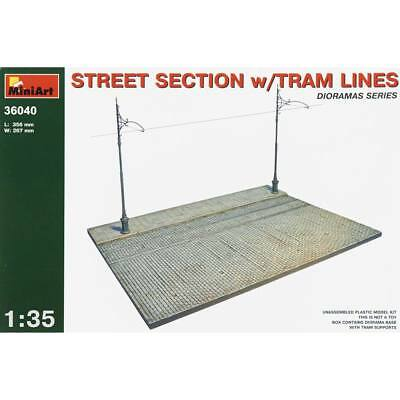 NEW MiniArt 1/35 Street Section w/Tram Lines for use w/3800 36040