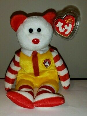 Ty Beanie Baby RONALD McDONALD the Bear Full Size MINT with MINT TAGS 2004 Rare