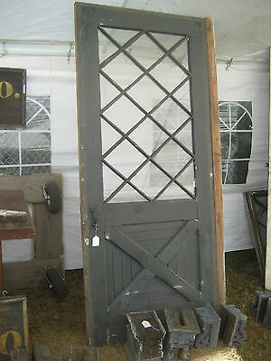 "circa 1890 LARGE carriage house barn DOOR 91"" tall x 39 3/8"" wide old hardware"
