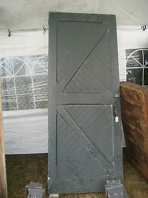 "circa 1890 LARGE carriage house barn DOOR 89.5"" tall x 35.75"" wide old hardware"