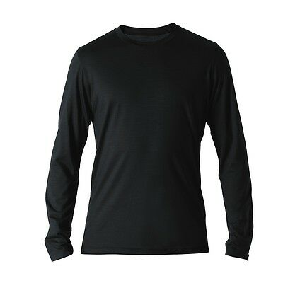REDA Rewoolution Grab - Mens T-Shirt Long Sleeve 140, schwarz, Merinowolle