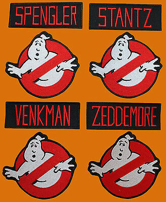 Ghostbusters Venkman Stantz Ghost Movie Embroidered 8 Pc Patch