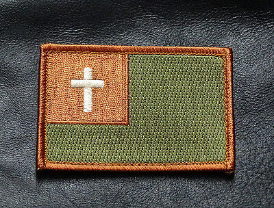 Christian Flag Tactical Combat Army Infidel Hook Loop Patch